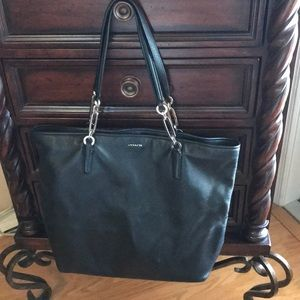 Coach All leather Tote